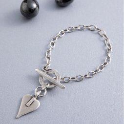 Danon Silver Mini Heart Bracelet