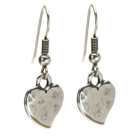 Danon Hook Earrings With Silver Heart