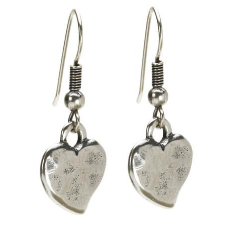 Danon Hook Earrings With Silver Heart