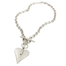 Danon Jewellery Chunky Silver Heart Necklace