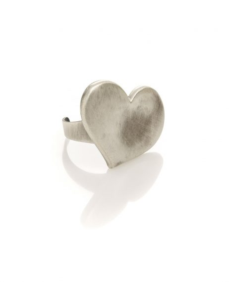 Danon Silver Heart Ring Adjustable
