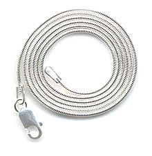 Lizzielane Compact 1mm 16″ Sterling Silver Snake Chain