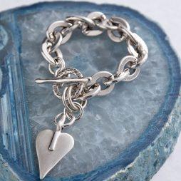 Danon Signature Heart Oval Chain Bracelet B3408S
