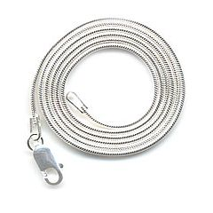 Lizzie Lane Compact 1mm 20″ Sterling Silver Snake Chain