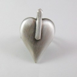 Danon Silver Signature Heart Ring (Adjustable)