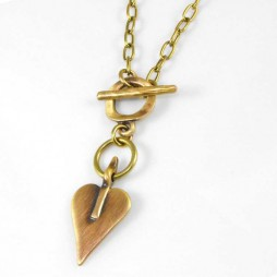 Danon Bronze Mini Heart Necklace