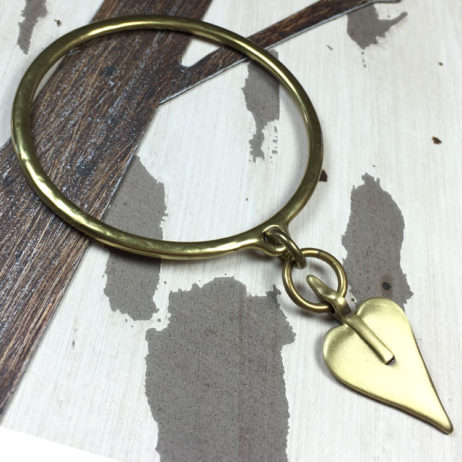 Danon Bronze Large Heart Bangle