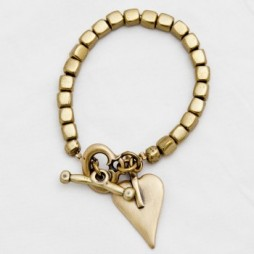 Danon Jewellery Bronze Cube Heart Bracelet
