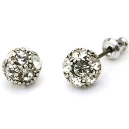 Hultquist Classic Silver Plated Swarovski Crystal Stud Earrings