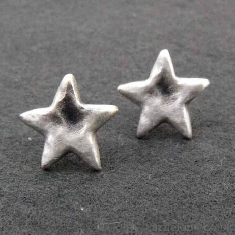 Danon Silver Star Stud Earrings