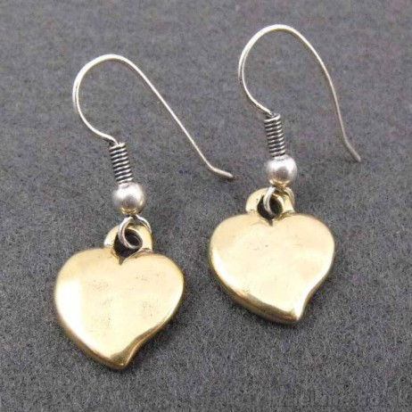 Danon Bronze Heart Hook Earrings