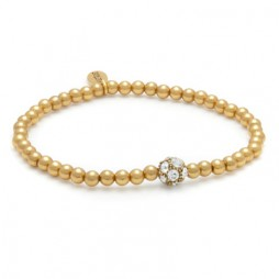 Hultquist Gold Plated & Swarovski Crystal Small Bead Bracelet
