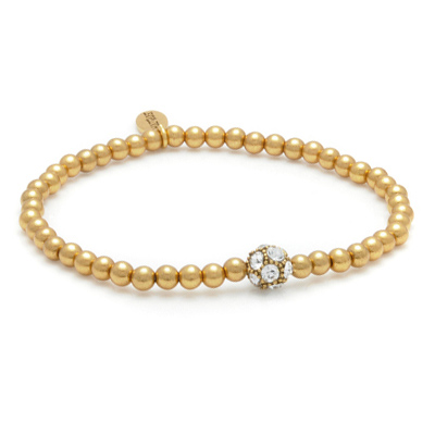 Hultquist Gold Plated Swarovski Crystal Small Bead Bracelet