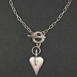 Danon Silver Mini Heart Short Necklace