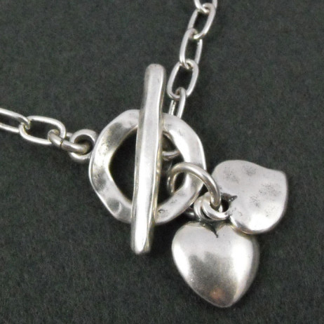 Danon Silver Mini Double Heart Bracelet