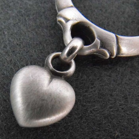 Danon Silver Heart Charm Ring