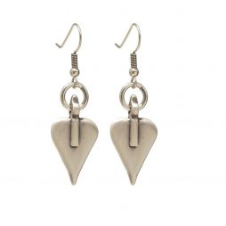 Danon Jewellery Silver Signature Heart Drop Earrings