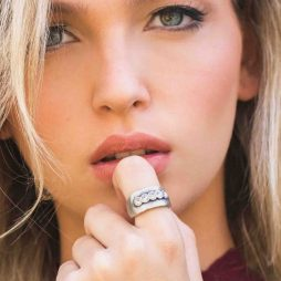 Danon Chunky Silver Swarovski Crystals Ring