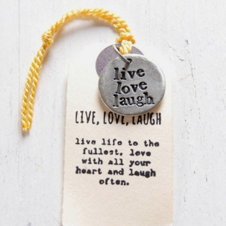 Kutuu Pewter Live Love Laugh Charm