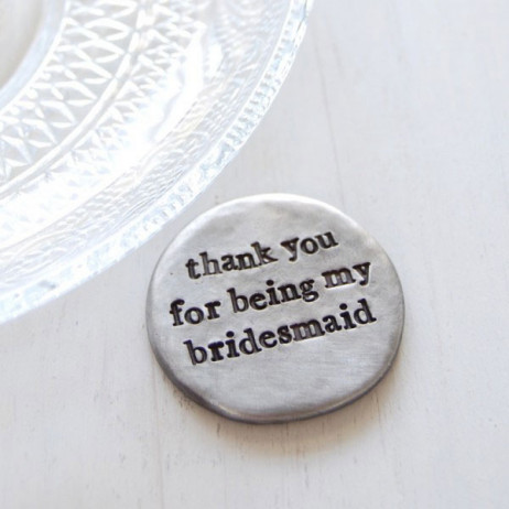 Kutuu Thank You For Being My Bridesmaid Pocket Coin Gift