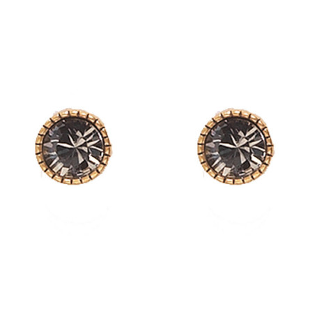 Hultquist Classic Gold Plated & Swarovski Crystal Stud Earrings
