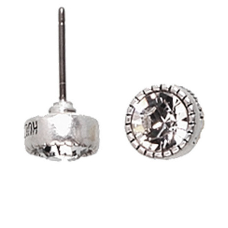 Hultquist Classic Silver Plated & Swarovski Crystal Stud Earrings