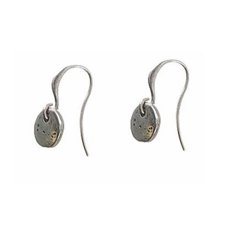 Hultquist Classic Silver Plated Mini Coin Hook Earrings