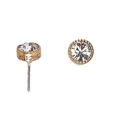 Hultquist Classic Gold Plated & White Swarovski Crystal Stud Earrings
