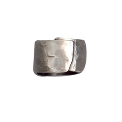 Danon Textured Chunky Silver Wrap Ring