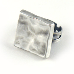 Danon Silver Square Ring (Adjustable)