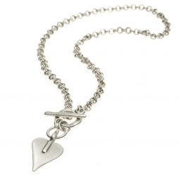 Danon Jewellery Mini Signature Heart Double Links Necklace N4843S