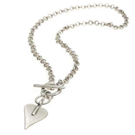 Danon Jewellery Signature Heart Double Links Necklace