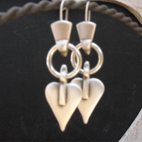 Danon Jewellery Danon Silver Signature Heart Shaped Drop Earrings