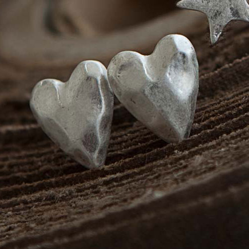 Tutti & Co Jewellery - Silver Heart Stud Earrings