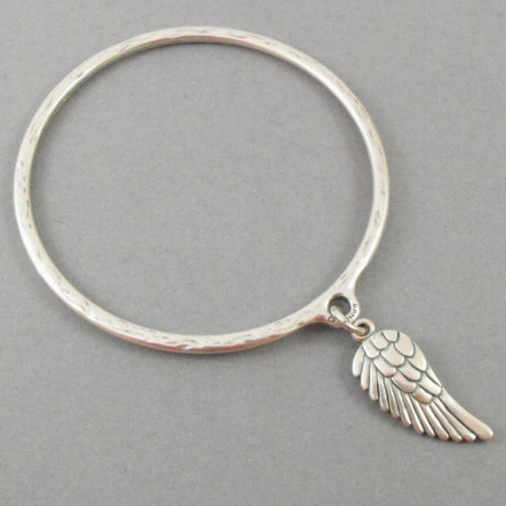 Danon Jewellery Silver Bangle with Silver Angel Wing