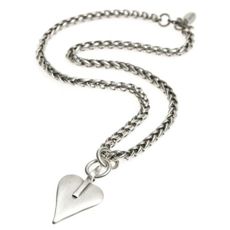 Danon Jewellery Silver Signature Heart Rope Chain Necklace