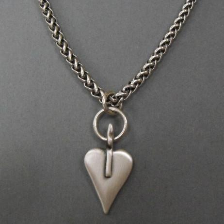 Danon Jewellery Silver Signature Heart Rope Chain Necklace