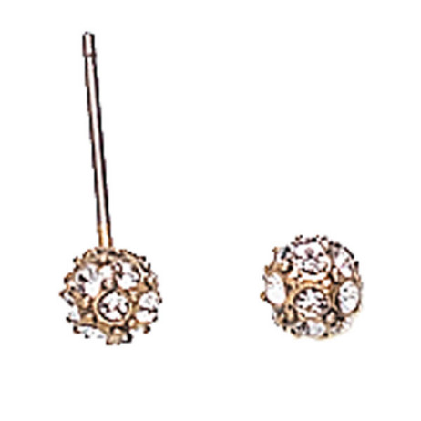 Hultquist Classic Gold Plated Swarovski Crystal Stud Earrings