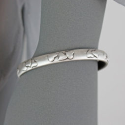 Danon Jewellery Silver Bangle with Heart Pattern