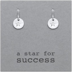 Kutuu Jewellery Sterling Silver Star For Success Drop Earrings