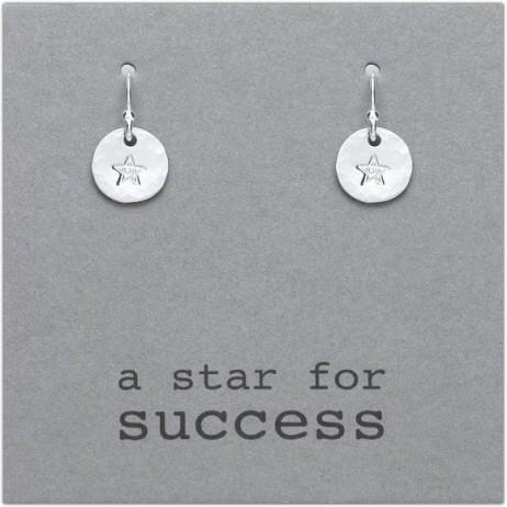 Kutuu Jewellery Sterling Silver Star For Success Drop Earrings