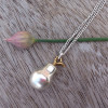 Hultquist Jewellery Pear Drop Long Silver Necklace