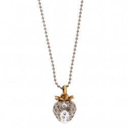 Hultquist Jewellery Strawberry Short Silver Necklace