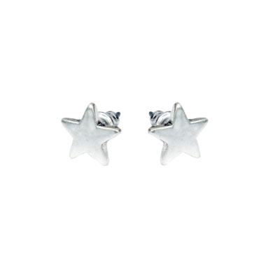 Hultquist Silver Plated Star Stud Earrings