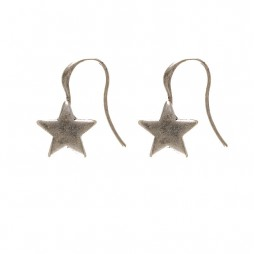 Hultquist Jewellery Rock Hippy Silver Plated Star Earrings