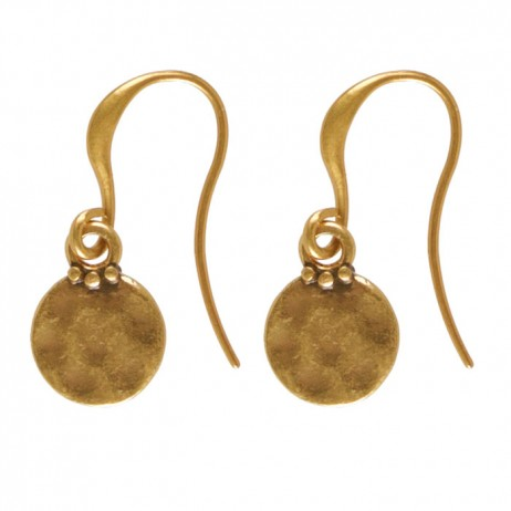 Hultquist Marakesh Gold Plated Coin Hook Earrings