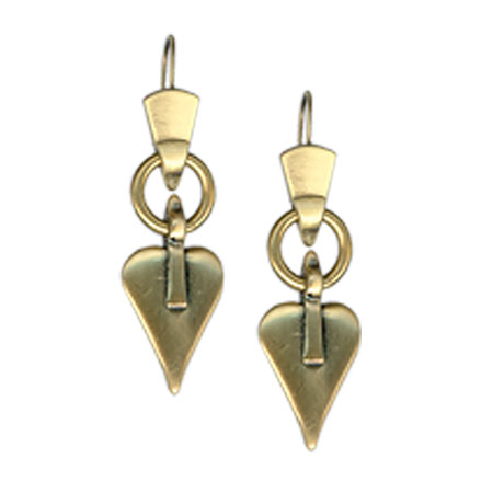 Danon Jewellery Bronze Signature Heart Drop Earrings
