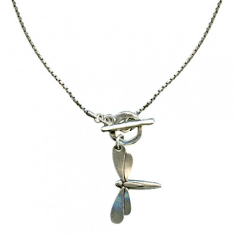 Danon Jewellery Large Silver Dragonfly Necklace