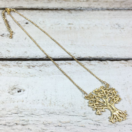 Hot Tomato Jewellery Gold Plated Tree of Life Necklace