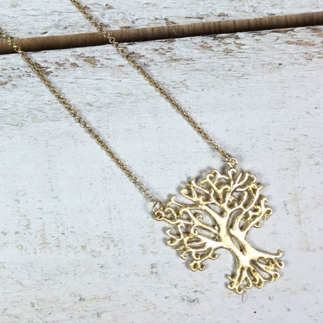 Hot Tomato Jewellery Silver Plated Tree of Life Necklace